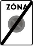 Koniec zóny s dopravným obmedzením IP24b